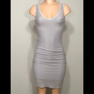 Ruched bodycon dress. Gray. NWOT